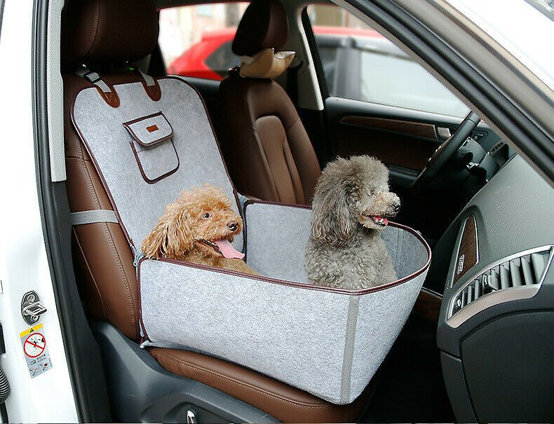 Pet Dog Cat Car Seat Carrier Belt Booster Pup Foldable Handbag Travel Portable