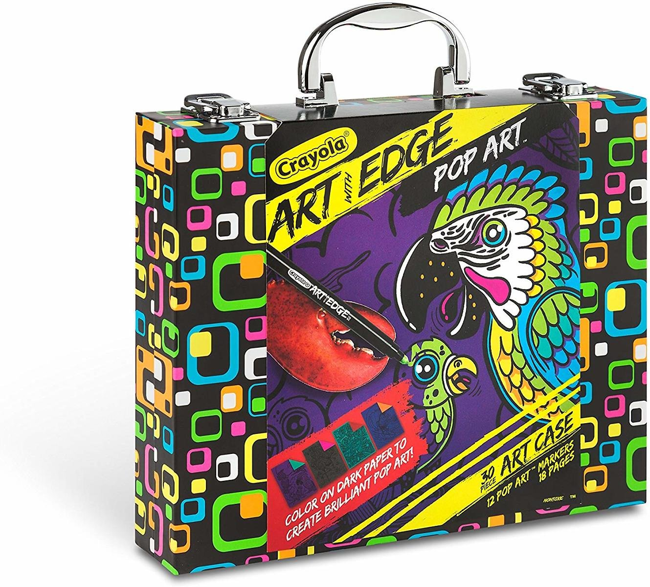 Crayola Art with Edge, Neon Marker and Art Case Set, Adult Coloring