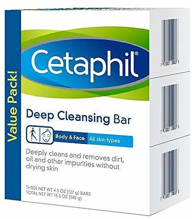 (Shps Free) 3 Pack Cetaphil Deep Cleansing Face & Body Bar