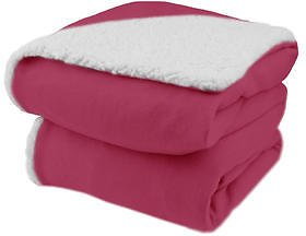Blankets Biddeford Analog Comfort Knit Electric Heated Throw Blanket with Natural Sherpa
