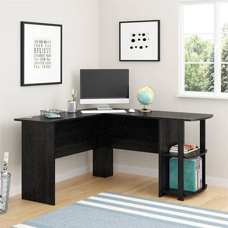 Ameriwood L-Shaped Office Desk with Side Storage