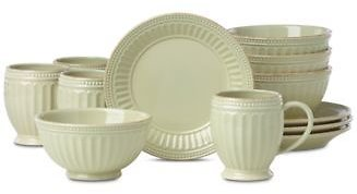 Lenox French Perle Groove Pistachio 12-Pc. Dessert Set Service For 4