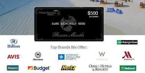 $500 Travel Savings Card + $50 Restaurant.com Card