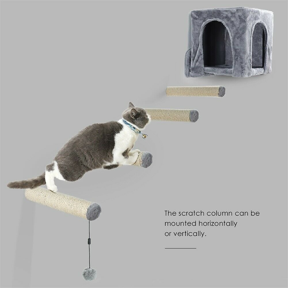 Pet Cat Tree Kitten Scratching Post Sisal Pole Replacement Parts Condo Box Toys