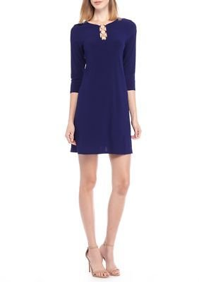 MSK Ring Neckline Jersey Shift Dress
