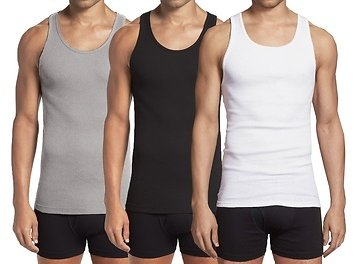 Galaxy By Harvic Men's A-Tank Undershirts. Extended Sizes Available (3- or 9-Pack)