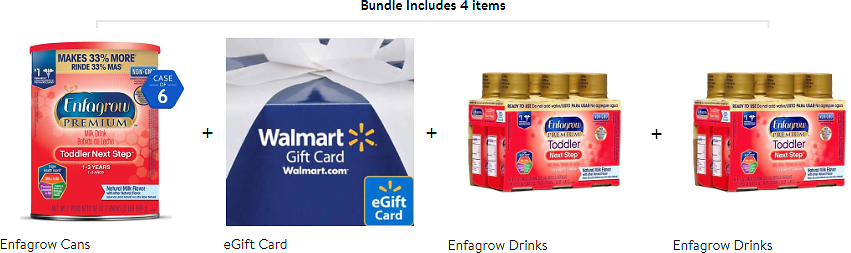 $10 GC + 12 Ready-To-Use Bottles w/ 6 Cans of Enfagrow Toddler Next Step Formula
