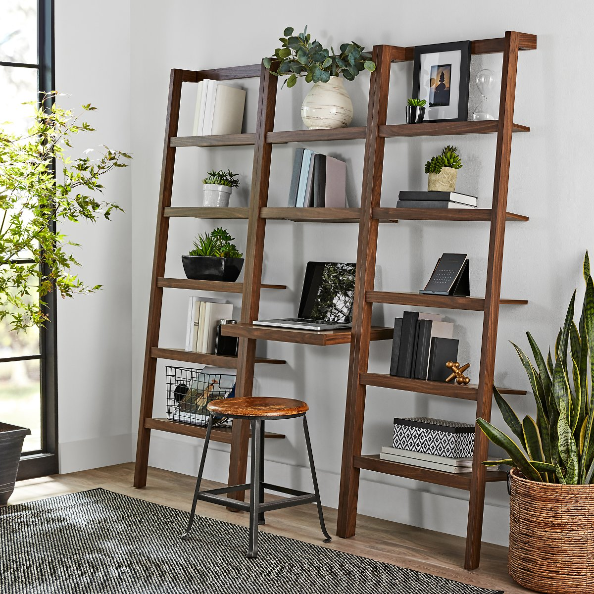 (Ships Free)Mainstays Sumpter Park Ladder Bookcase Desk