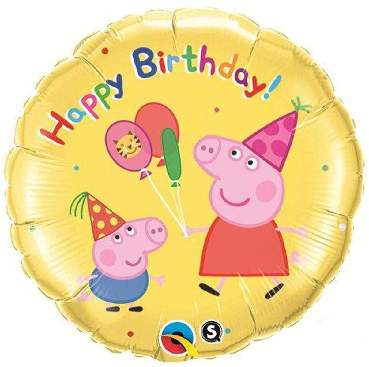 Peppa Pig Happy Birthday Foil Balloon - PartyBell.com