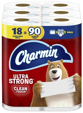 Charmin Ultra Strong Clean Touch Toilet Paper 18 Mega Rolls