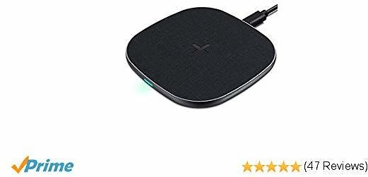 [Upgraded] Wireless Charger, Qi-Certified 7.5W Fast Charger Compatible for IPhone Xs Max/XS/XR/X/8/8 Plus, 10W Samsung S9/S9+/S8/S8+ Note9/8/7, Stainless Steel, All Qi-Enabled Devices (No AC Adapter)