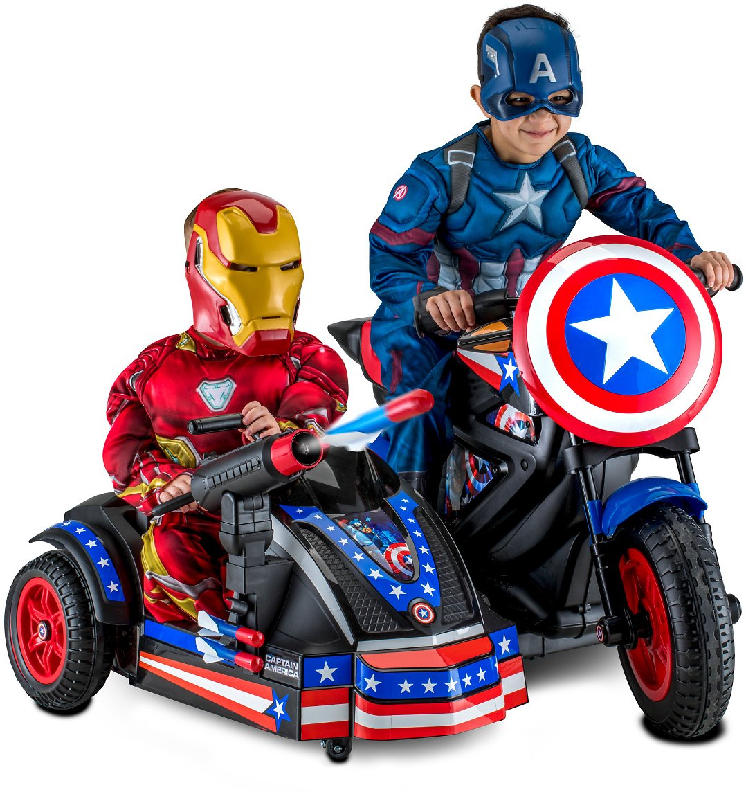 12-Volt Captain America Motorcycle Ride-On + F/S
