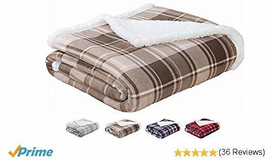Sedona House Sherpa Flannel Throw Blanket 50 X 60 Inches $18.89