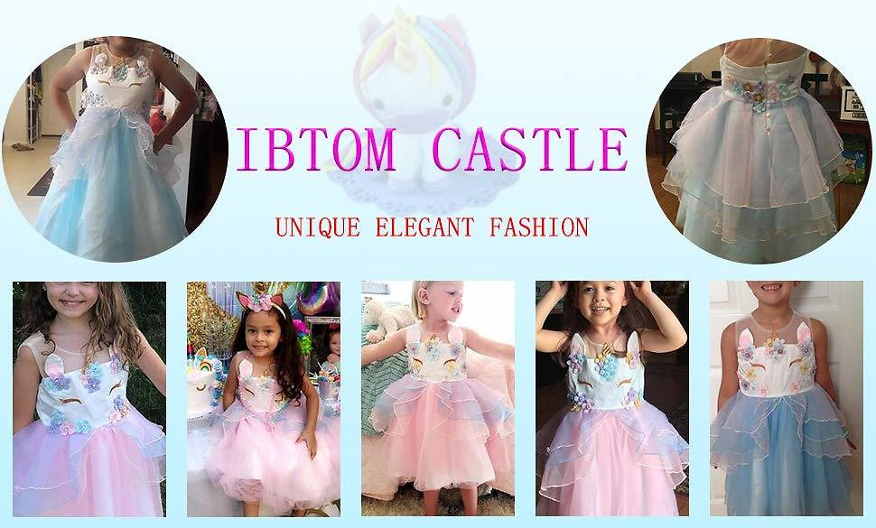 IBTOM CASTLE Baby Girls Flower Mythical Costume Cosplay Princess Dress Up Birthday Pageant Party Dance Outfits Evening Gowns: Gateway