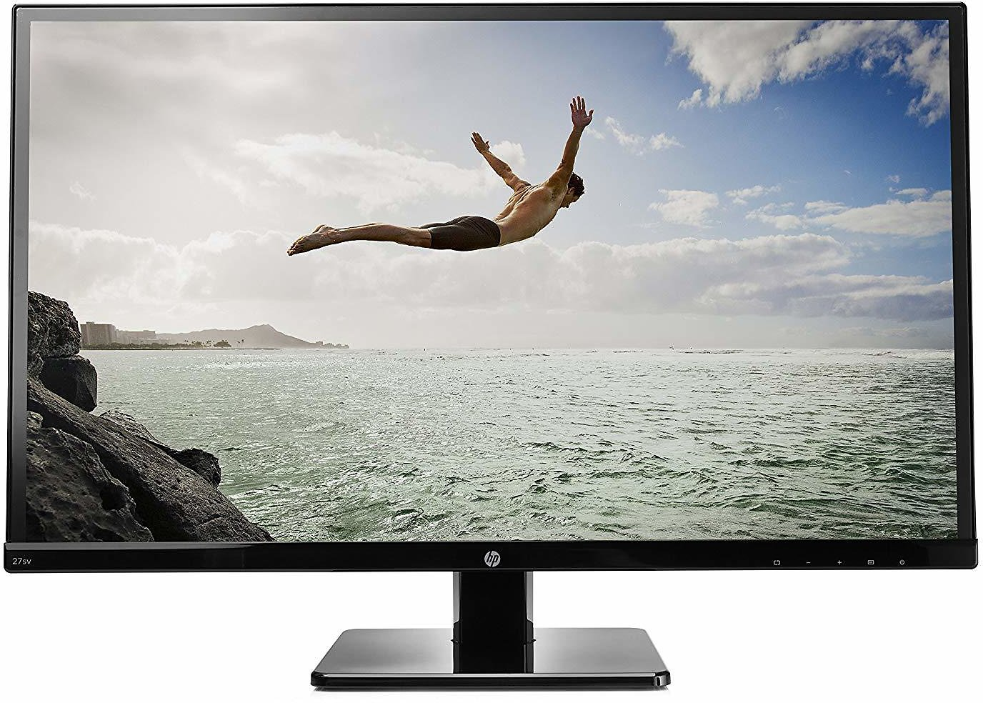 HP 27-inch FHD IPS Monitor with Tilt Adjustment and Built-in Speakers (27sv, Black)