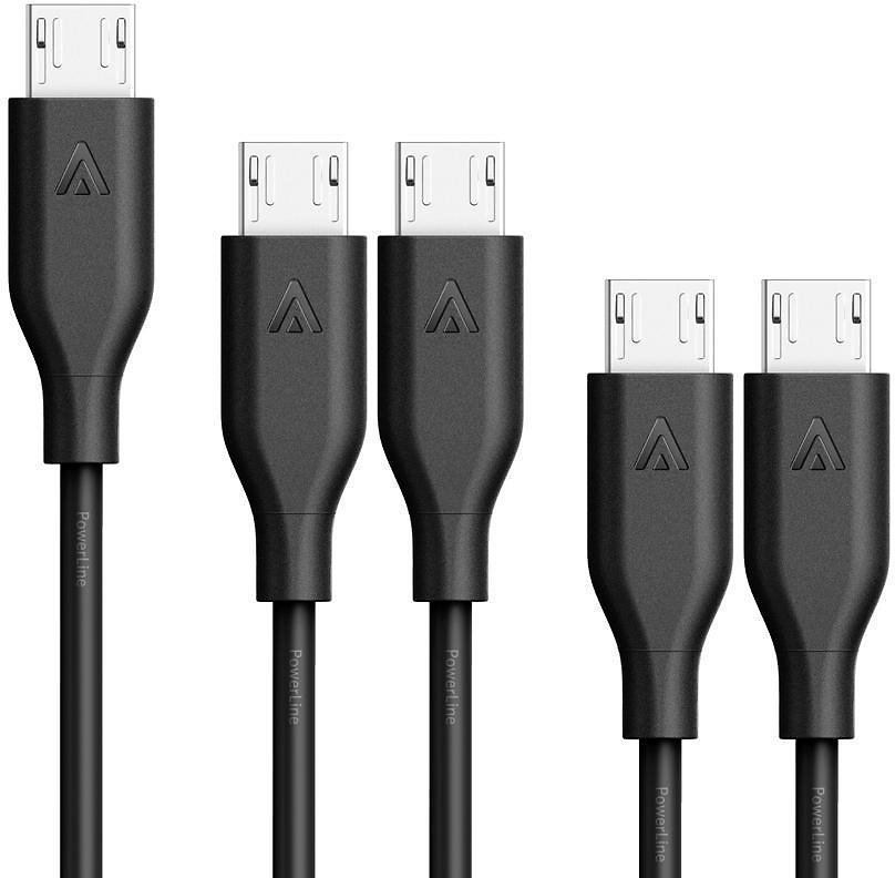 Anker [5-Pack] PowerLine Micro USB - Durable Charging Cable [Assorted Lengths] 848061029918