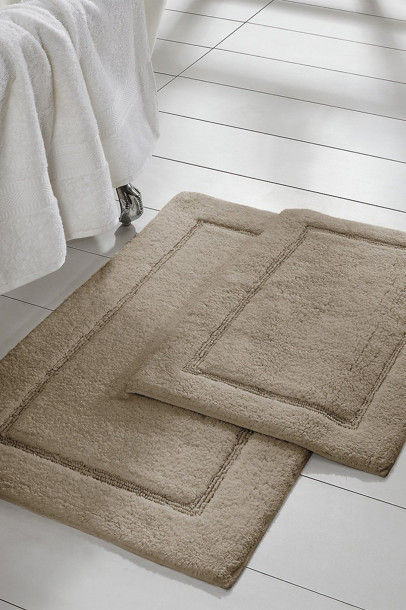 COLONIAL HOME TEXTILES | Taupe Solid Loop Non-Slip Bath Mat 2-Piece Set | Nordstrom Rack