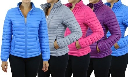 Spire By Galaxy Women's Lightweight Puffer Jackets with Plus Size