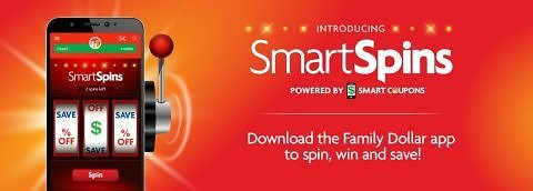Family Dollar App spin, win and save