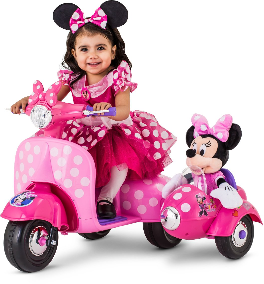Disney Minnie Mouse Happy Helpers Scooter w/Sidecar Ride-On Toy