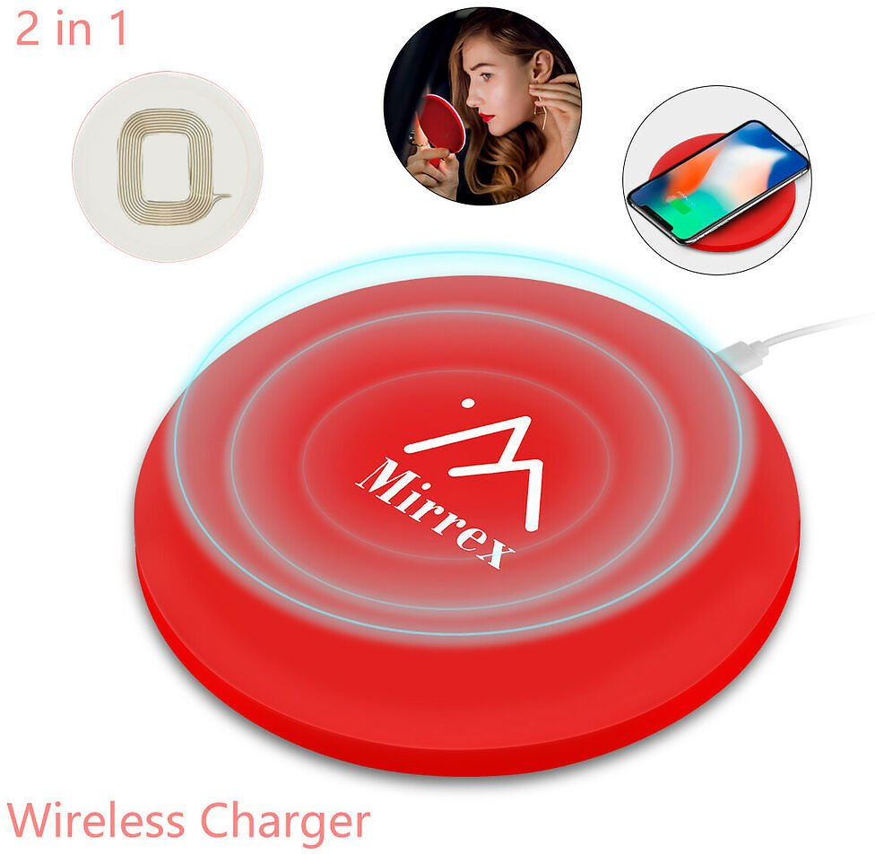 Mirrex™ Makeup Cosmetic Mirror LED Lights Wireless Charging New Magnifying 791262751952