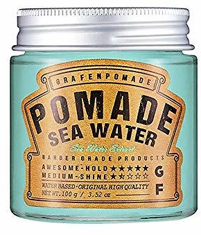 Grafen Sea Water Pomade Cream 3.52 Oz for Man & Boy, Strong Styling for Very Thick Hair Type, Hold Original Style By Night, Men & Boys Be Groomer, Perfume Hair Hard Wax, Scent of Sea, Strong and Firm : Gateway