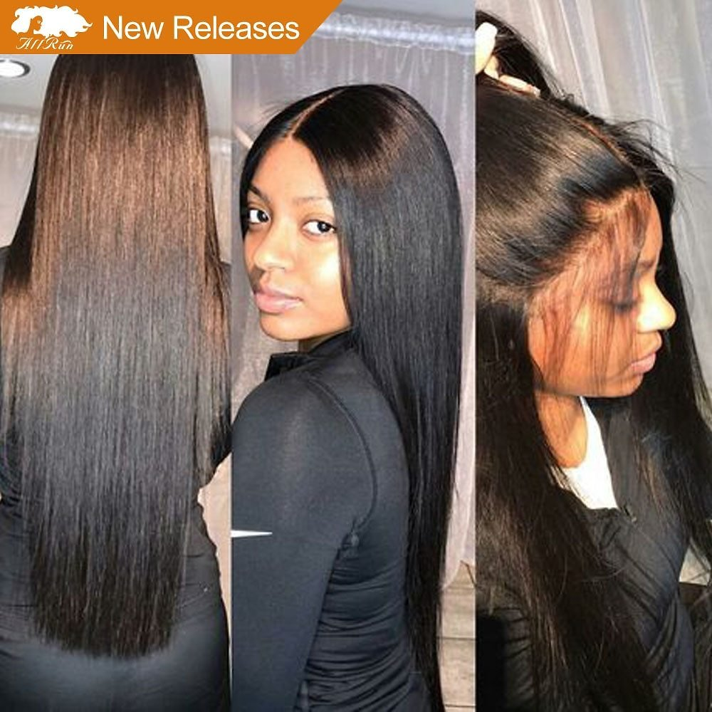 Brazilian Lace Front Human Hair Wigs With Baby Hair Full End Straight Lace Front Wigs 4*4 Closure Bleached Knots Non Remy