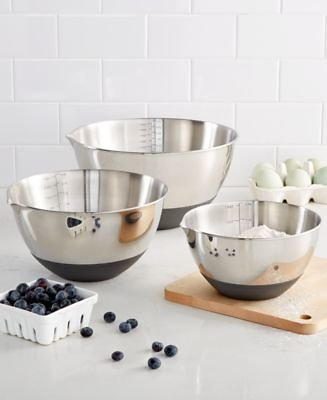 Martha Stewart Collection Set of 3 Non-Skid Mixing Bowls with Measurements, Created for Macy's & Reviews - Kitchen Gadgets - Kitchen