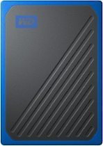 WD - My Passport Go 500GB External USB 3.0 Portable Solid State Drive - Black With Cobalt Trim