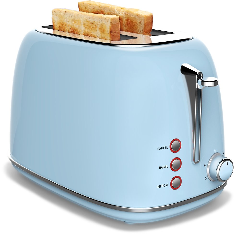 2 Slice Toaster Wide Slot ,Compact Bread Toasters