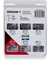Arrow Fastener Rivet Assortment Kit, 120-Pack