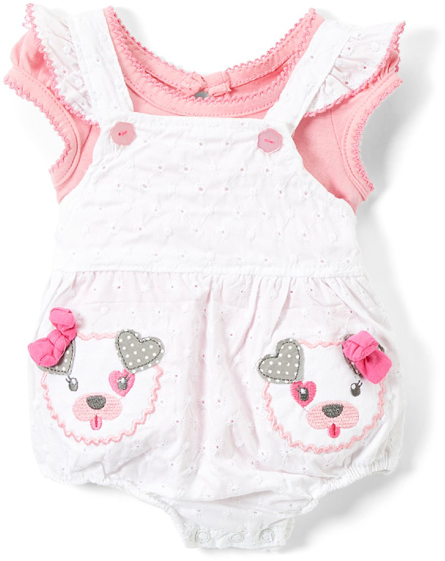 Love This Product White Puppy Eyelet Bubble Romper & Pink Tee - Newborn & Infant
