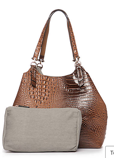 New Directions® Crocodile Key Item Shoulder Bag with Pouch