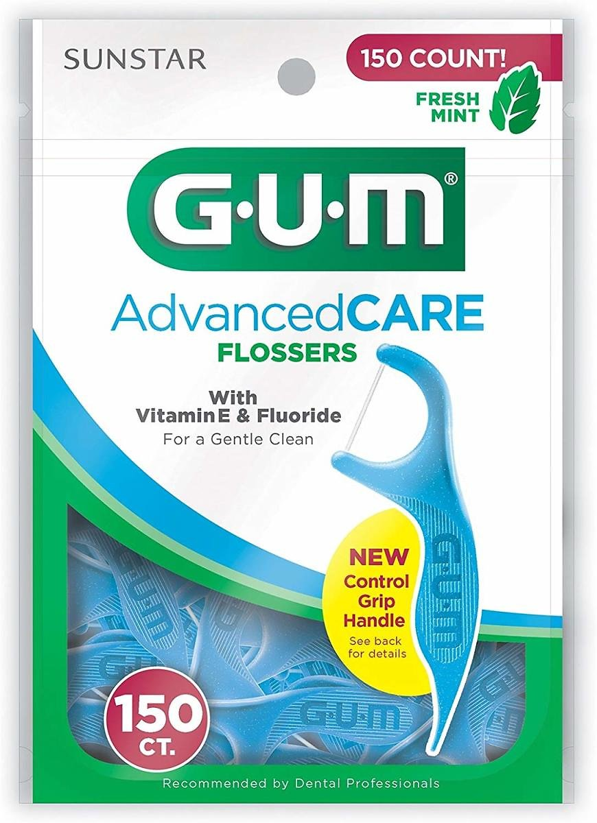 150-Count GUM Advanced CARE Flossers