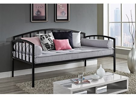 DHP Ava Contemporary Metal Daybed Frame, 2 Colors