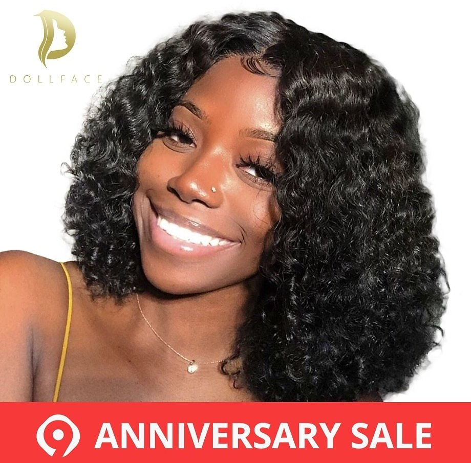Curly Lace Front Human Hair Wigs Short Bob Wig With Preplucked Hairline For Black Women Full End Freeshipping Dollface