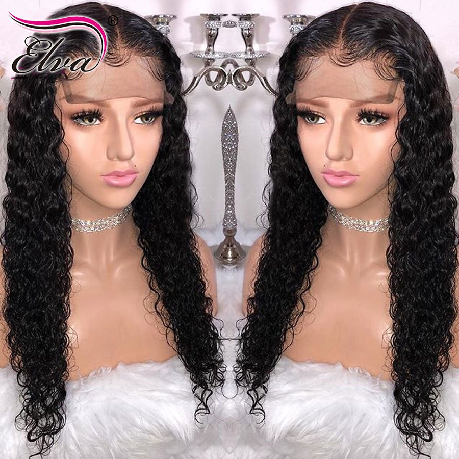 13x6 Curly Lace Front Human Hair Wigs Pre Plucked Hairline Brazilian Remy Hair Lace Wig With Baby Hair Natural Color