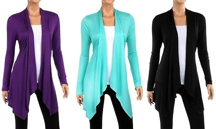 Women's Draped Cardigan (2-Pack). Plus Sizes Available