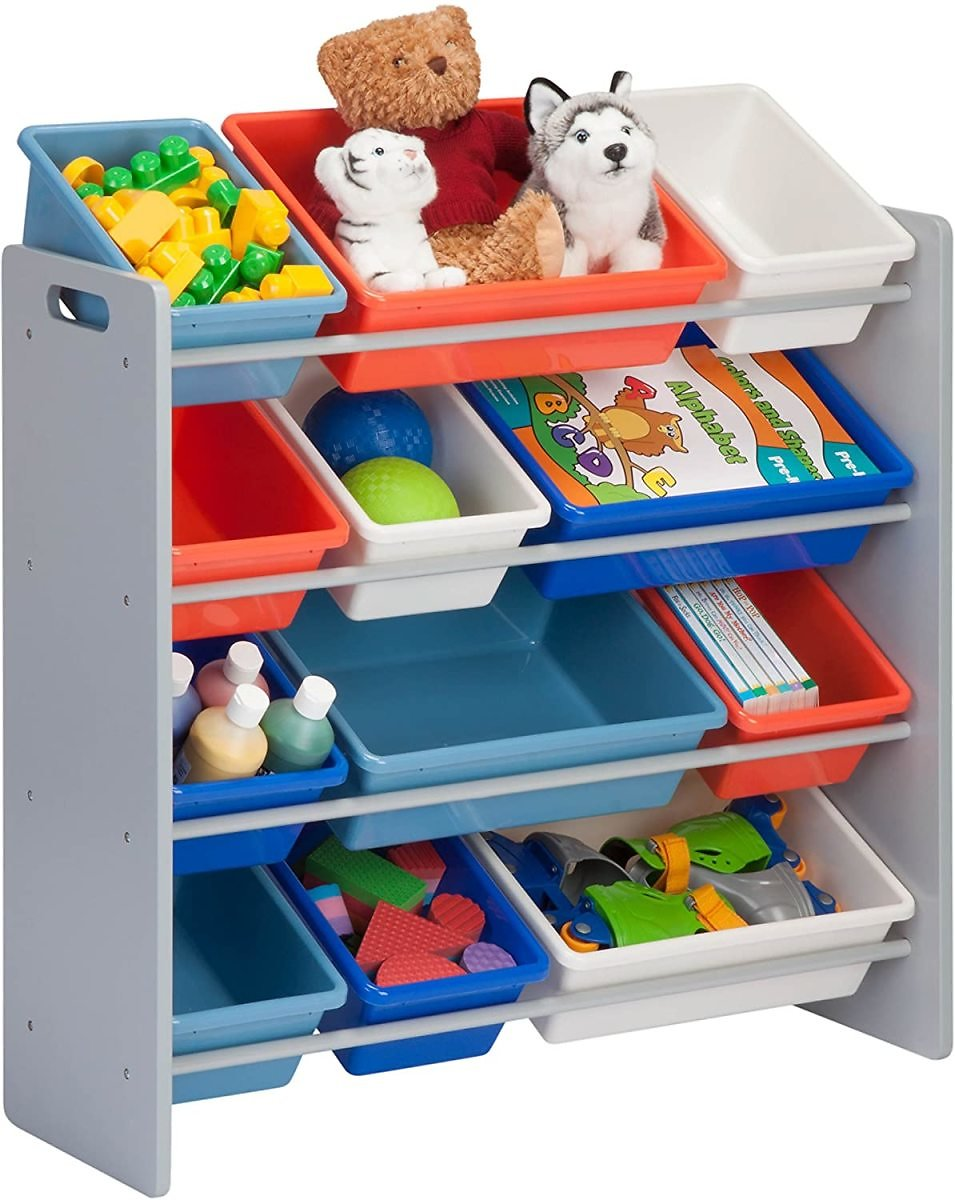 Honey-Can-Do Toy Organizer and Storage Bins, Gray