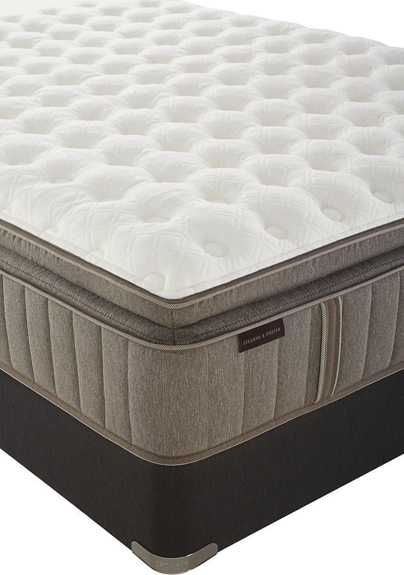 Stearns & Foster - Hustonville Luxury Cushion Firm Euro Pillowtop Split California King Mattress | Sears Outlet