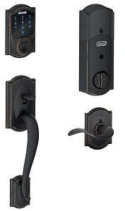Schlage Camelot Aged Bronze Connect Smart Lock + F/S