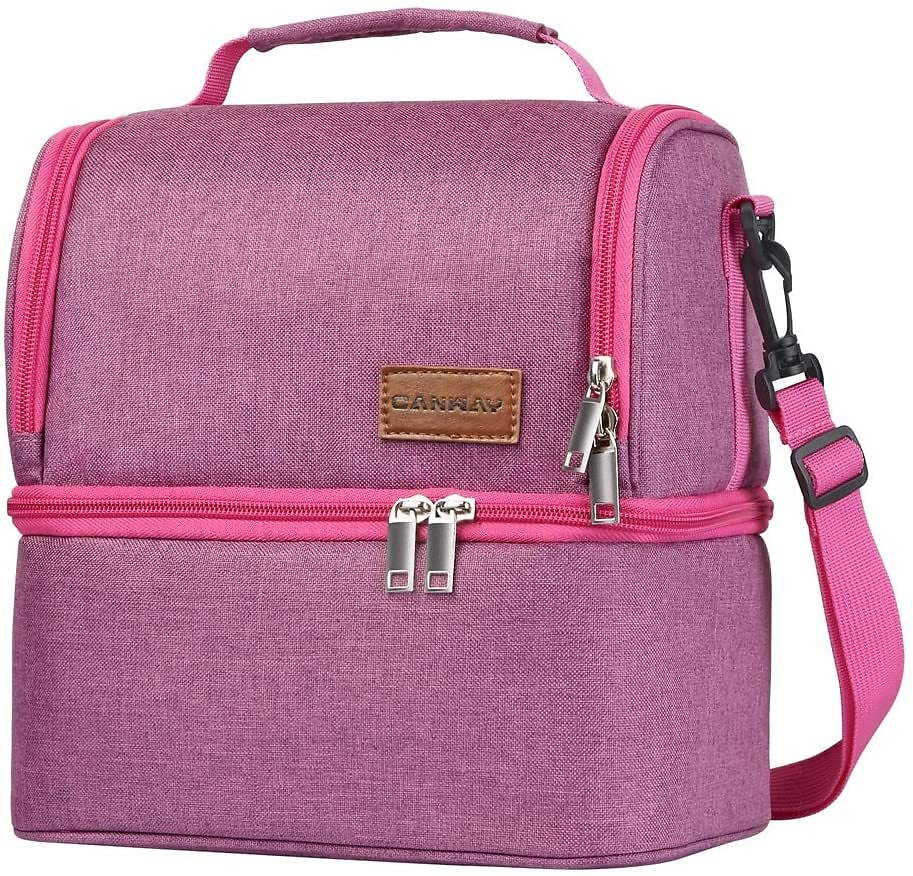 Insulated Lunch Bag, Dual Compartment