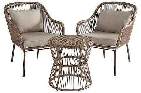 SONOMA Goods for Life Solta Stationary Patio Chairs & Table (3-piece Set)