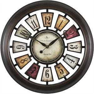 FirsTime 22.5 In. Round Numeral Plaques Wall Clock