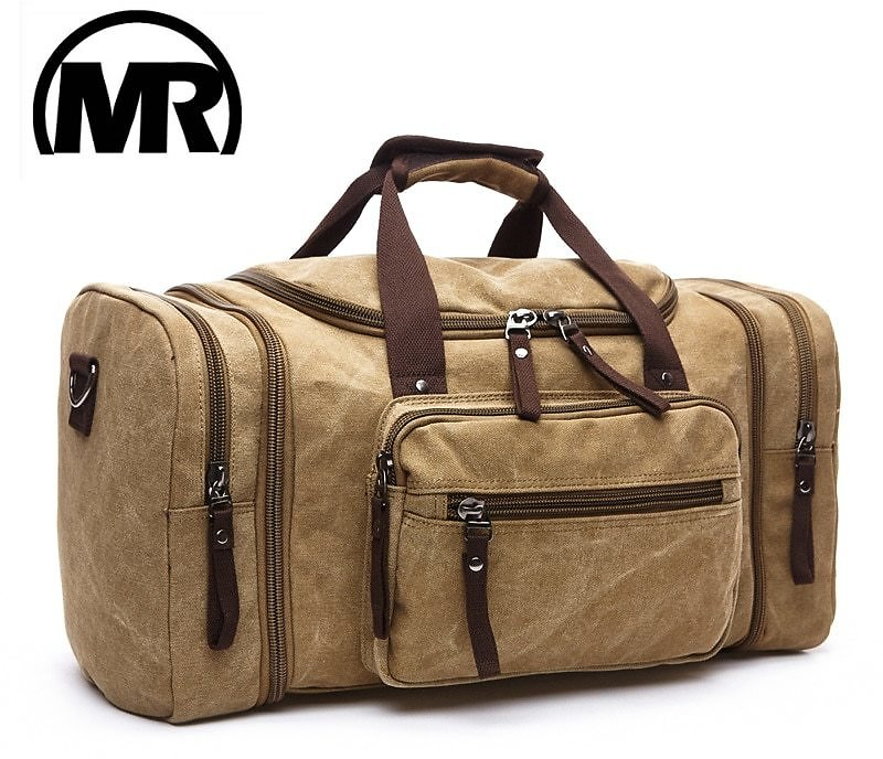 Soft Canvas Men Travel Bags Carry On Luggage Bag