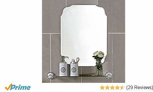 MX.home Wall Silver Backed Mirrored Glass Panel Best for Vanity, Bedroom, or Bathroom (18