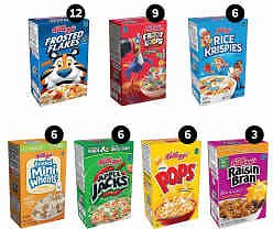 48-Ct Kellogg's Breakfast Cereal Single-Serve Boxes