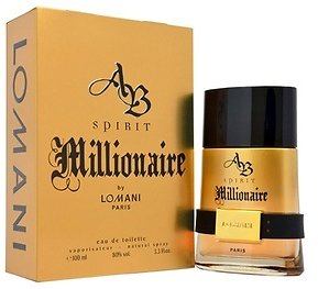 AB Spirit Millionaire Eau De Toilette Spray for Men (3.4 Fl. Oz.)