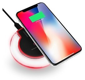 Wireless Qi Charger for IPhone X,8,8 Plus, Samsung S8,S7 (1 or 2 Pack)