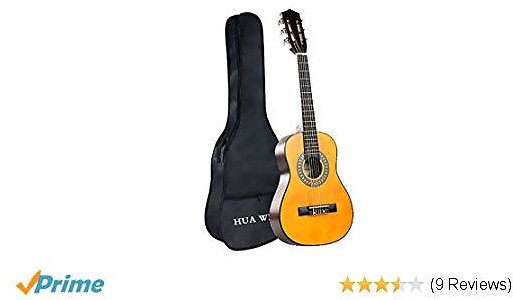 50% OFF Classical Guitar, HUAWIND Nylon Strings Natural 30in 1/2 Size Acoustic Guitar $29.99